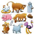 Farm animal collection vector