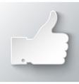 Thumb up applique vector