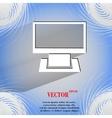 Computer flat modern web button on a flat vector