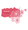 Pink floral banner vector