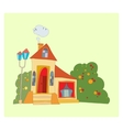 House with big windows vector