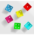 Colorful dice vector