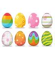 Easter egg festival holiday vector