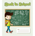 Back to school education cartoon kid vector