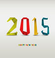 New year card with folded colored paper background vector