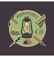 Colored vintage adventure label vector