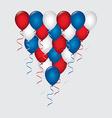 Balloons air design vector