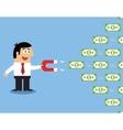 Employee money magnet vector