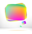 Abstract glossy speech bubble  eps8 vector