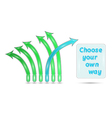 Choose your own way vector