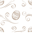 Seamless easter background with eggs vector