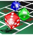 Colored dice vector