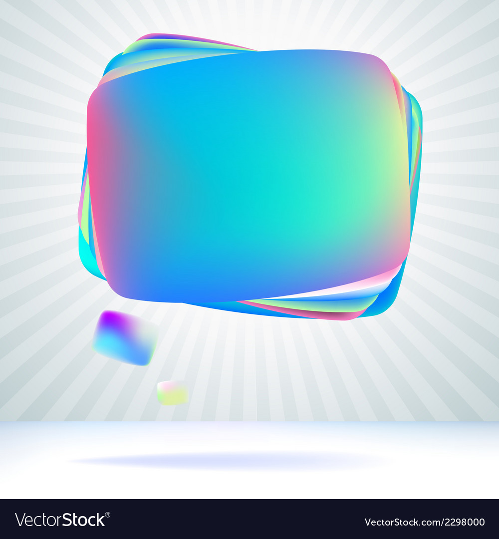 Abstract glossy speech bubble  eps8 vector | Price: 1 Credit (USD $1)