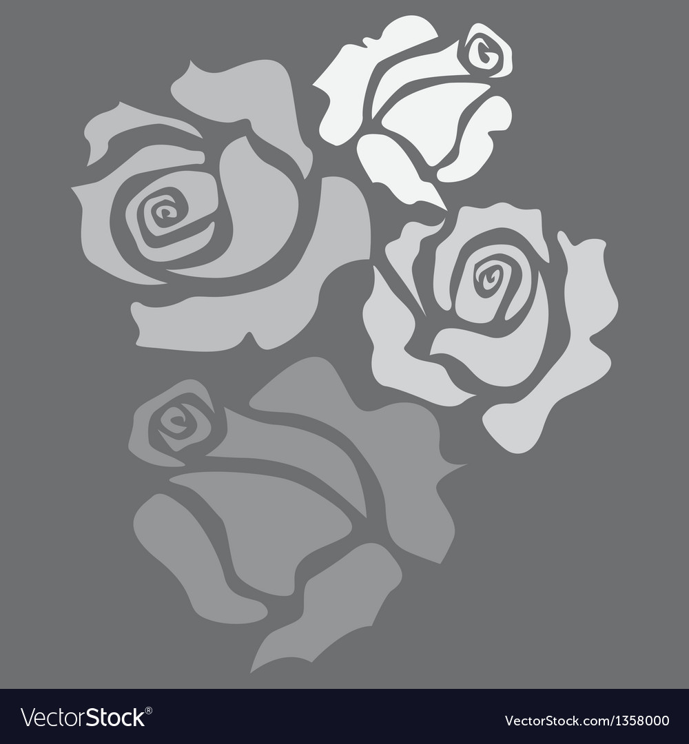 Four roses vector | Price: 1 Credit (USD $1)