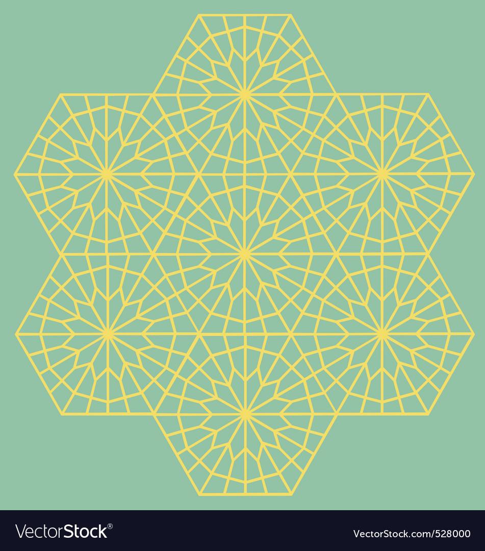 Geometric interlaced pattern vector | Price: 1 Credit (USD $1)