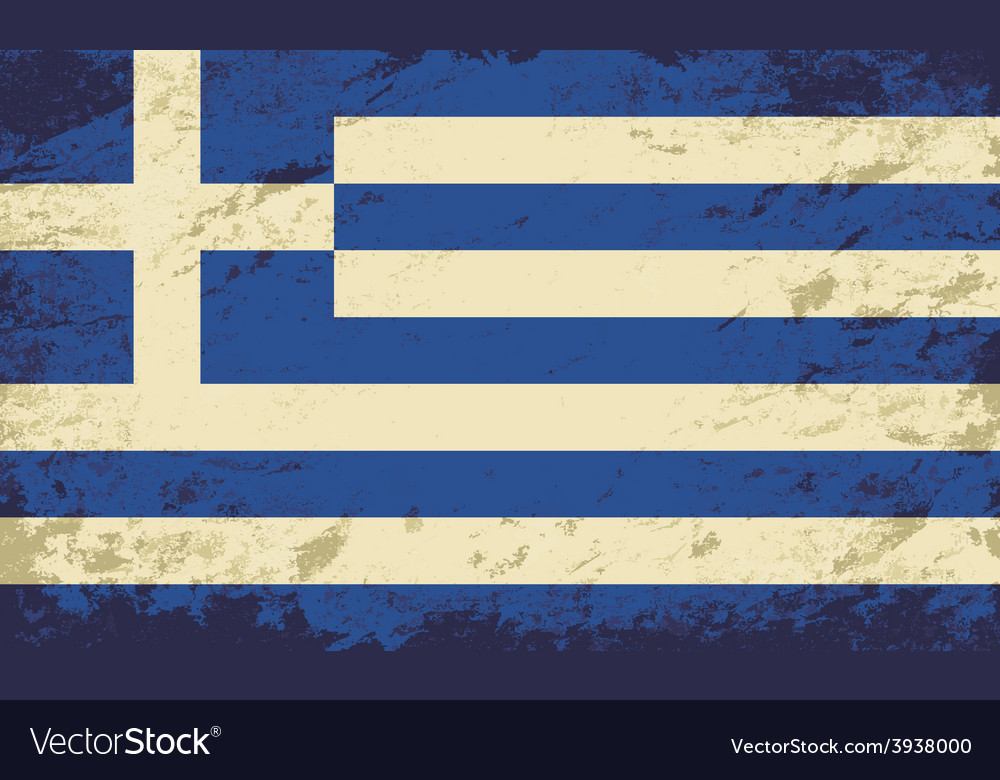 Greek flag grunge background vector | Price: 1 Credit (USD $1)