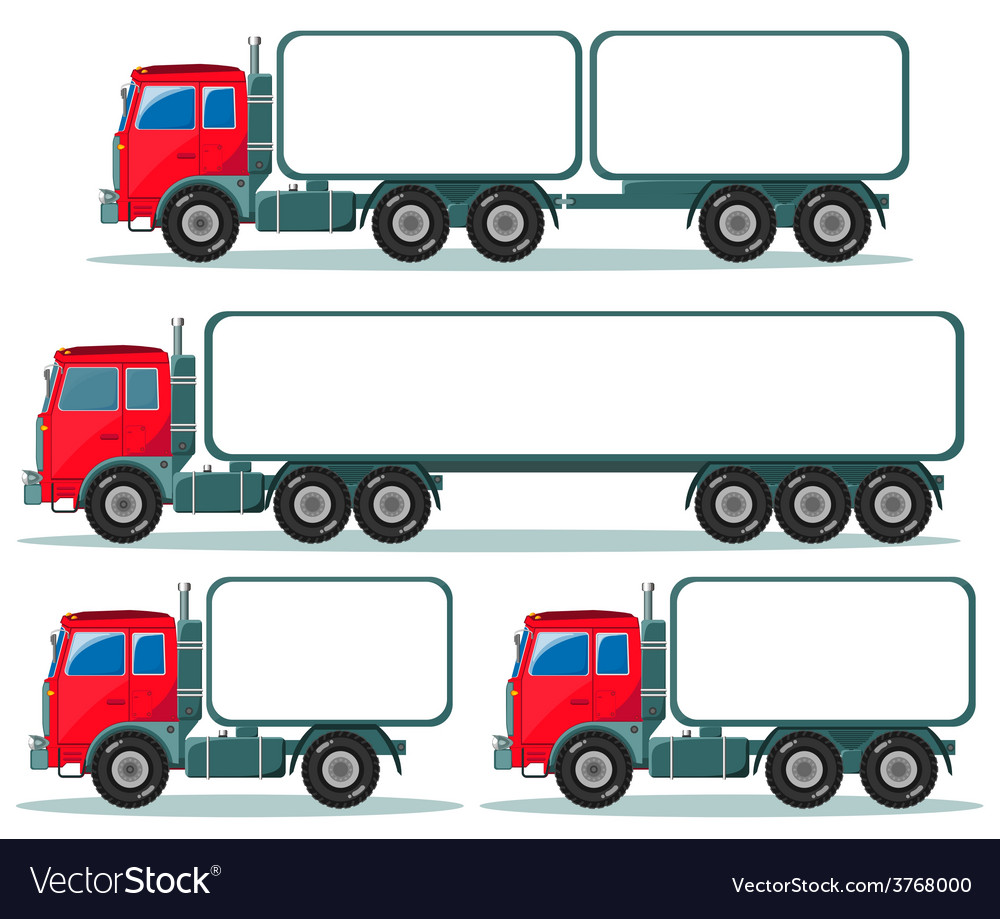 Heavy truck with space for text vector | Price: 1 Credit (USD $1)