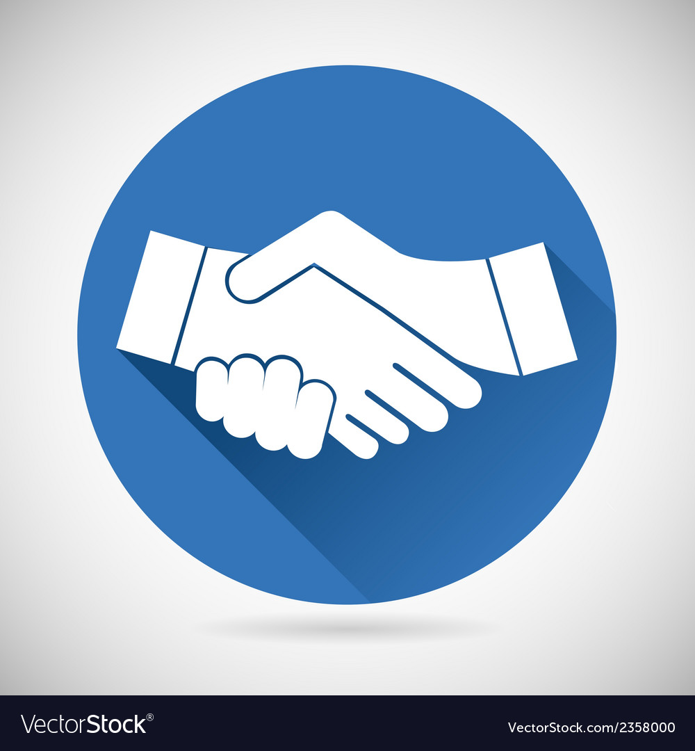 Partnership symbol handshake icon template vector | Price: 1 Credit (USD $1)