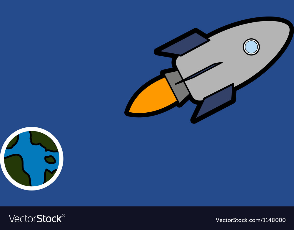 Space ship and earth vector | Price: 1 Credit (USD $1)