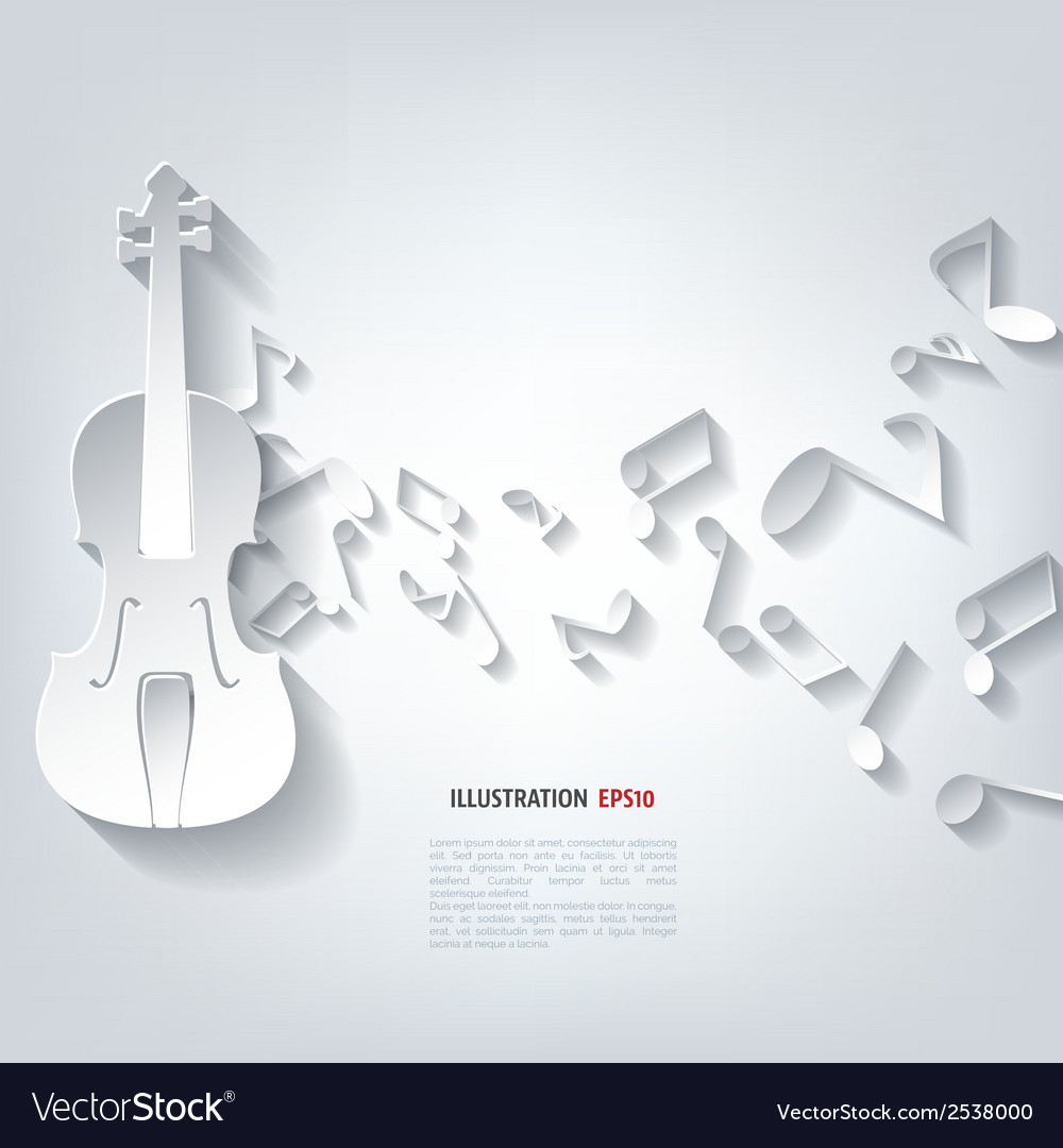 Violin icon music background vector | Price: 1 Credit (USD $1)