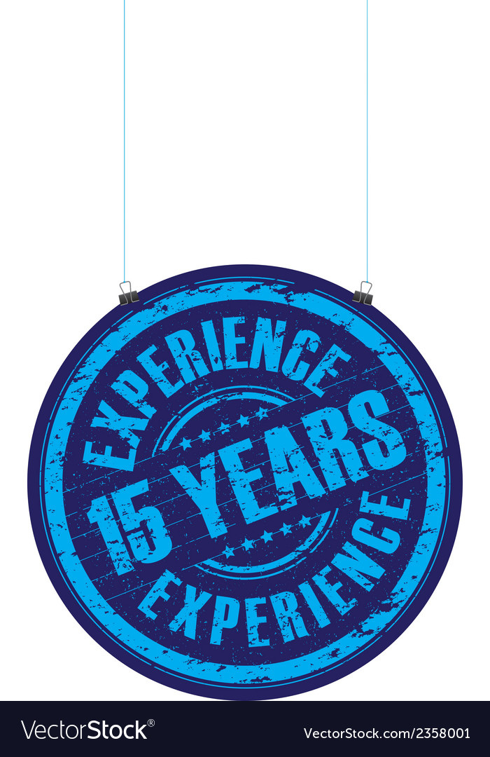 15 years experience vector | Price: 1 Credit (USD $1)