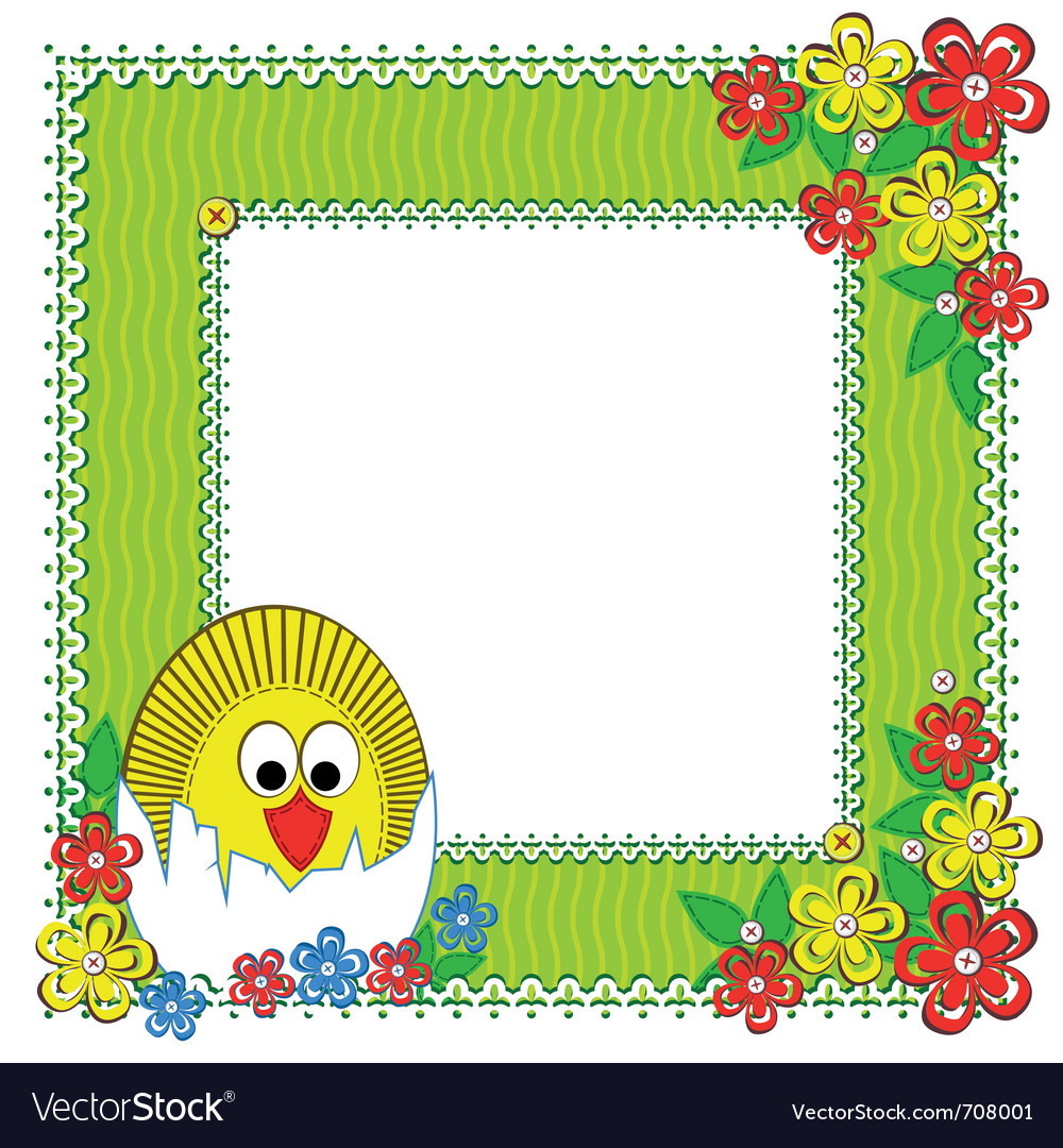 Chicken flowers vector | Price: 1 Credit (USD $1)