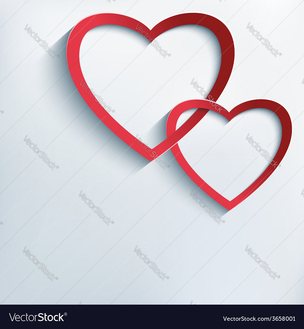 Conceptual background with paper 3d hearts vector | Price: 1 Credit (USD $1)