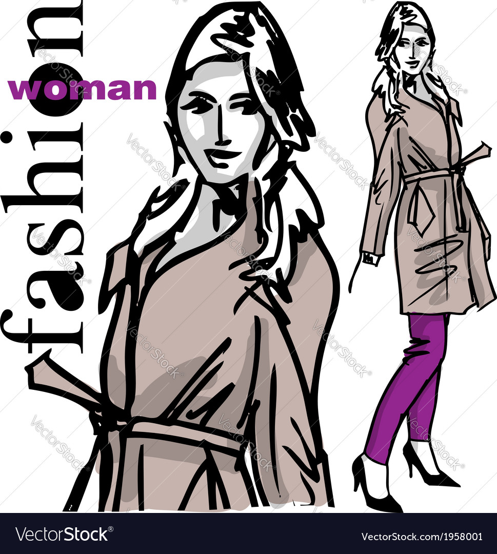 Fashion woman vector | Price: 1 Credit (USD $1)