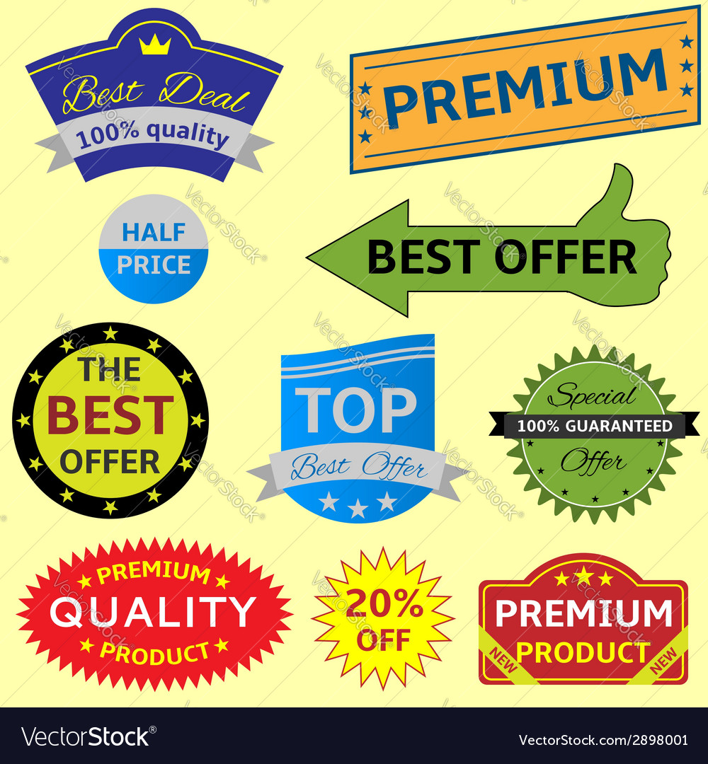 Lable set vector | Price: 1 Credit (USD $1)