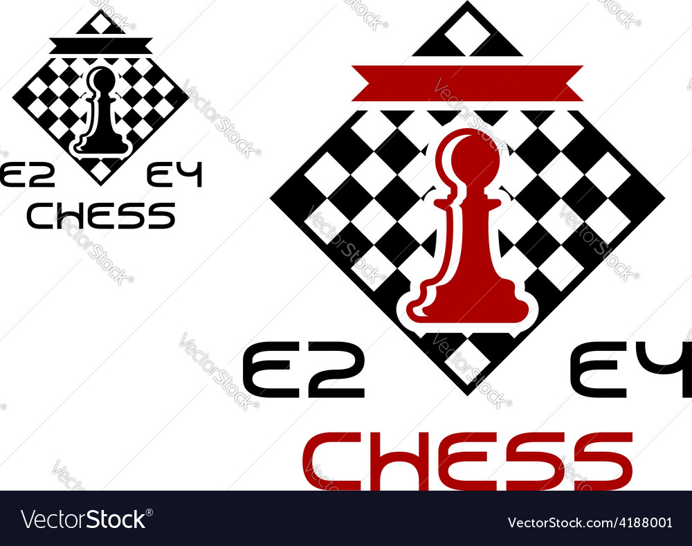 Red pawn on chess board vector   Price: 1 Credit (USD $1)