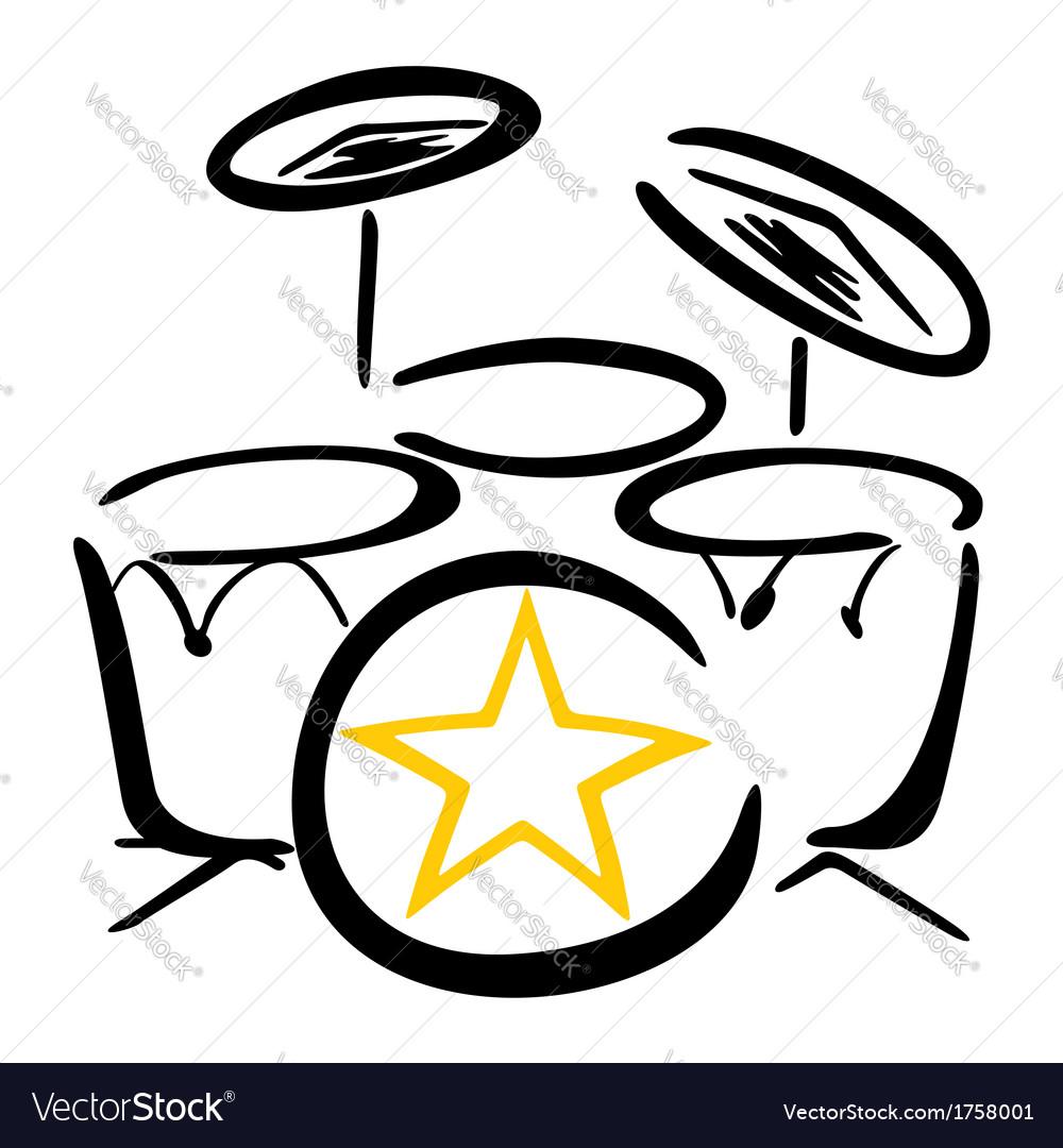Set for drummer vector | Price: 1 Credit (USD $1)