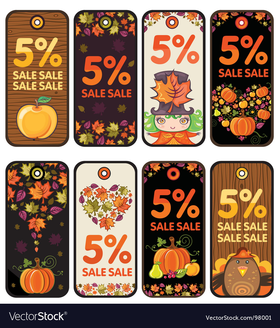 Thanksgiving tags vector | Price: 1 Credit (USD $1)