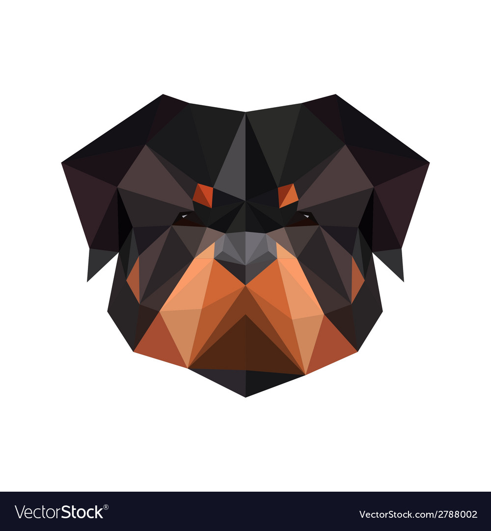 Abstract polygonal dog rottweiler vector | Price: 1 Credit (USD $1)