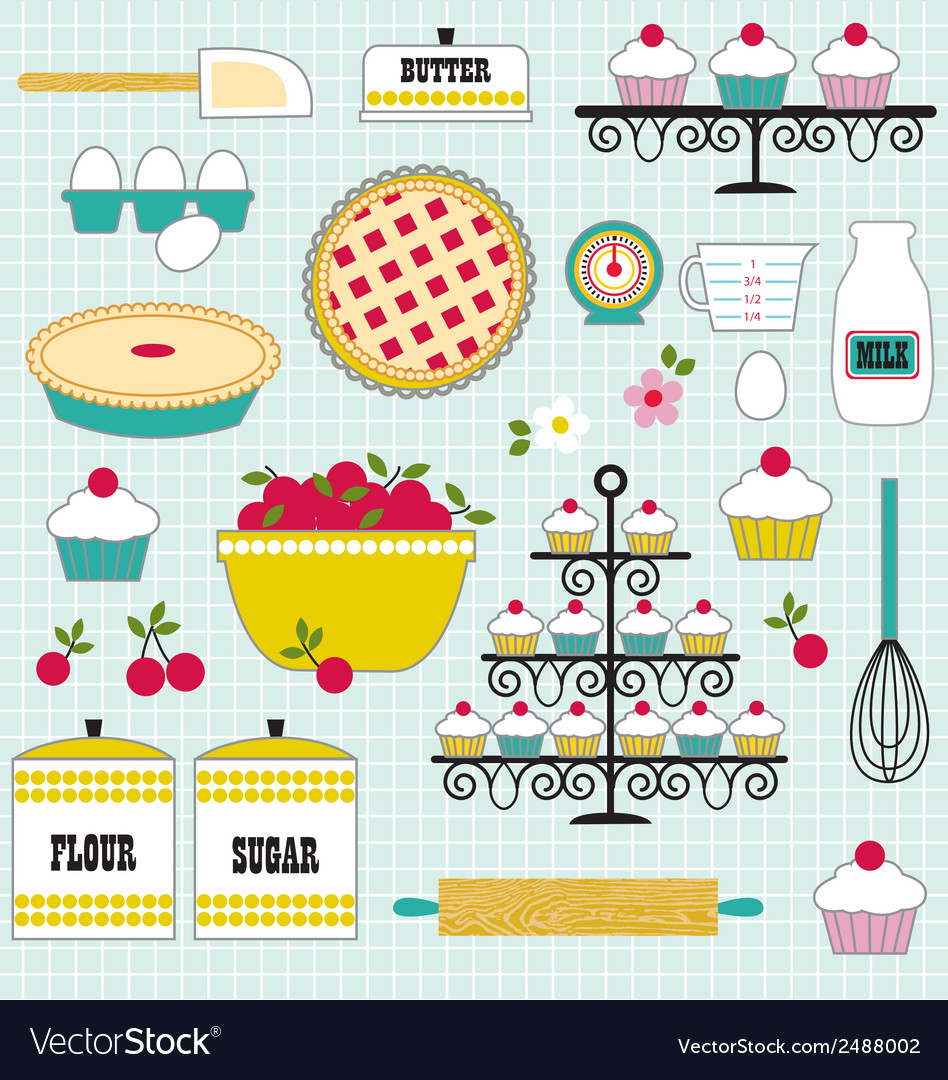 Baking clipart vector | Price: 1 Credit (USD $1)