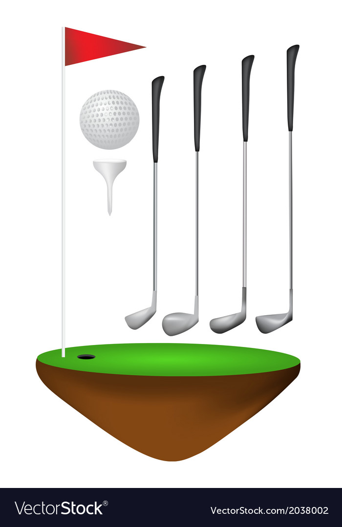 Golf elements vector | Price: 1 Credit (USD $1)
