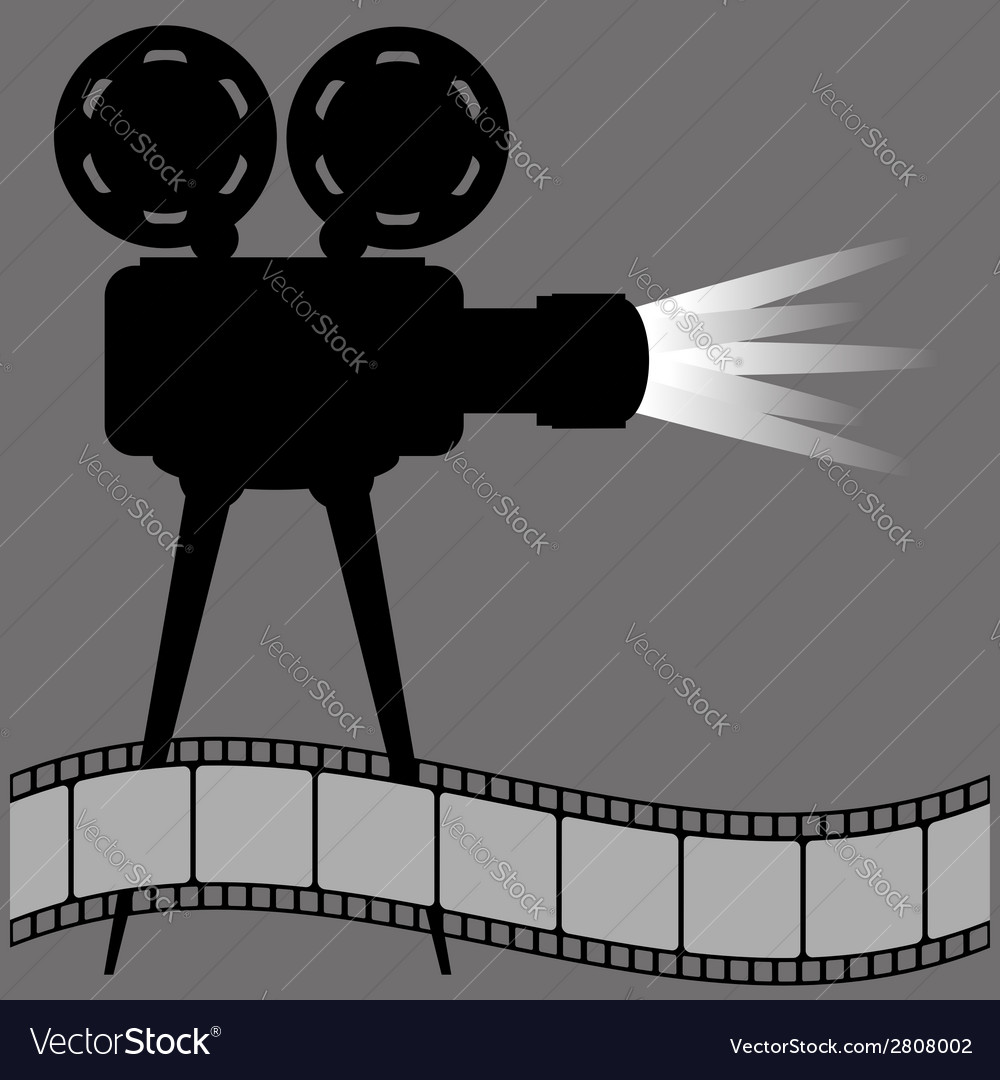 Old movie projector vector | Price: 1 Credit (USD $1)