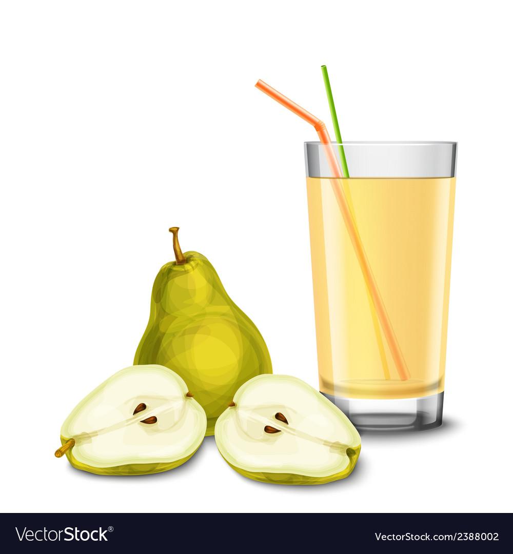 Pear juice glass vector | Price: 1 Credit (USD $1)