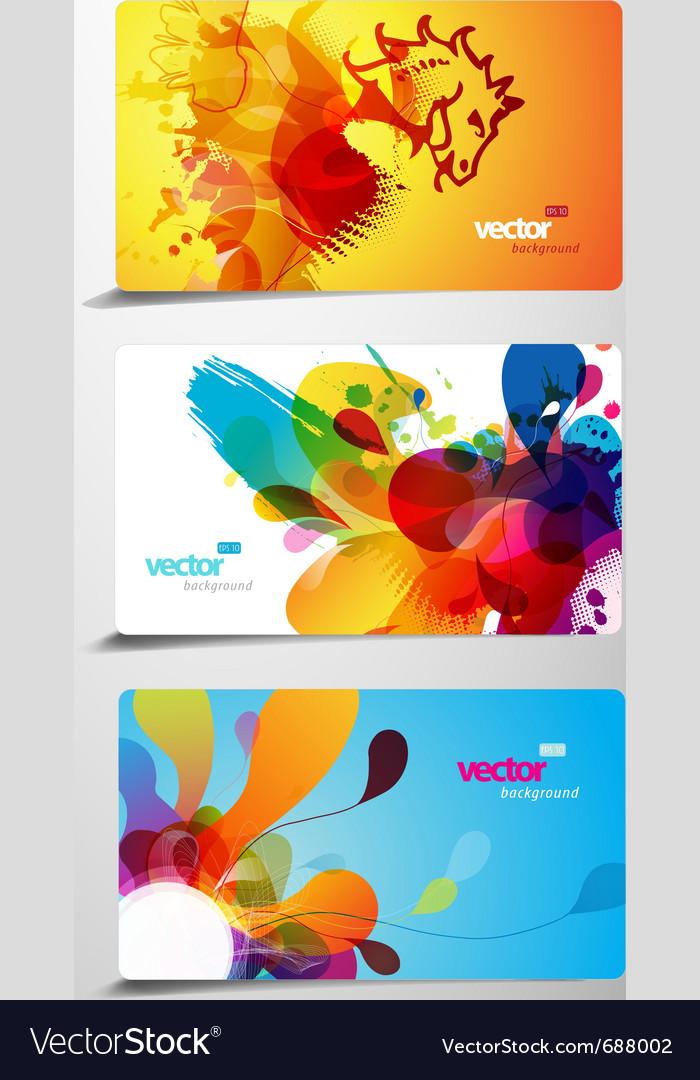 Splash gift cards vector | Price: 1 Credit (USD $1)