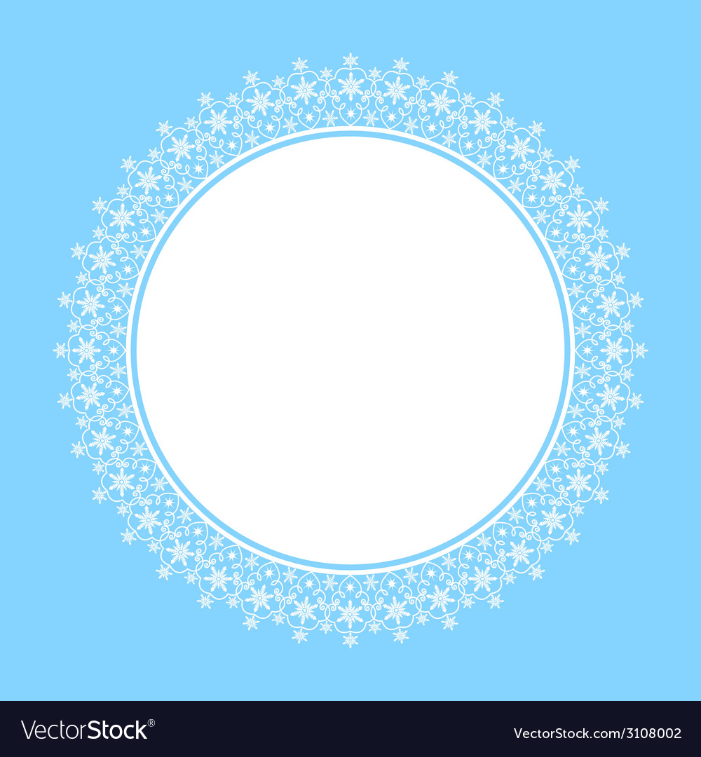 White frame of snowflakes vector | Price: 1 Credit (USD $1)