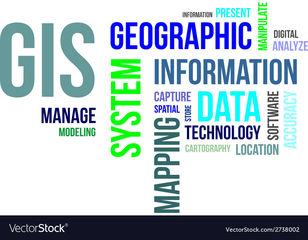 Word cloud gis vector | Price: 1 Credit (USD $1)