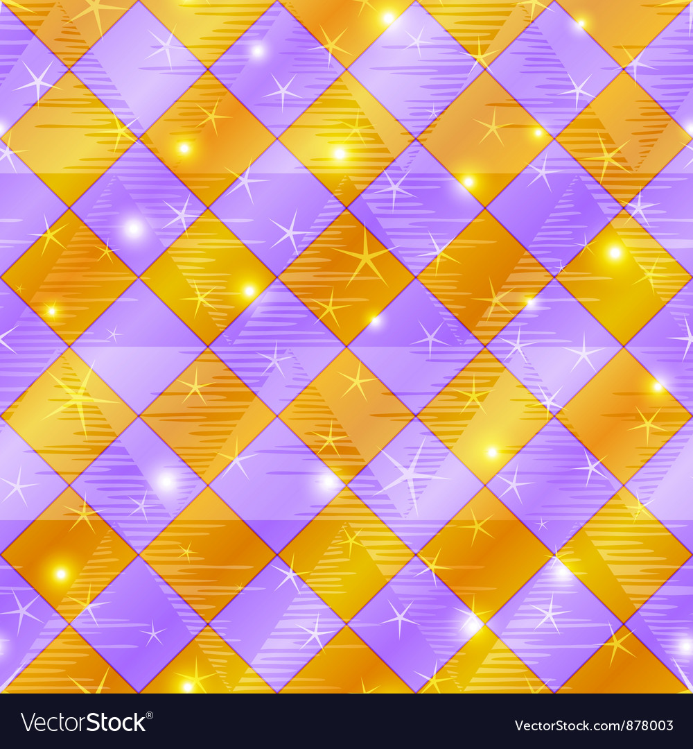 Abstract gold and lilac seamless plaid vector | Price: 1 Credit (USD $1)