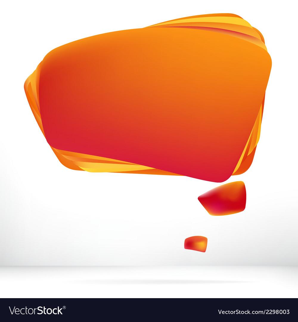 Abstract orange warm speech bubble  eps8 vector   Price: 1 Credit (USD $1)