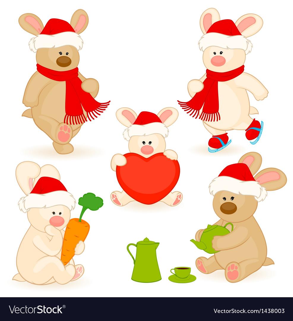 Christmas bear vector   Price: 1 Credit (USD $1)