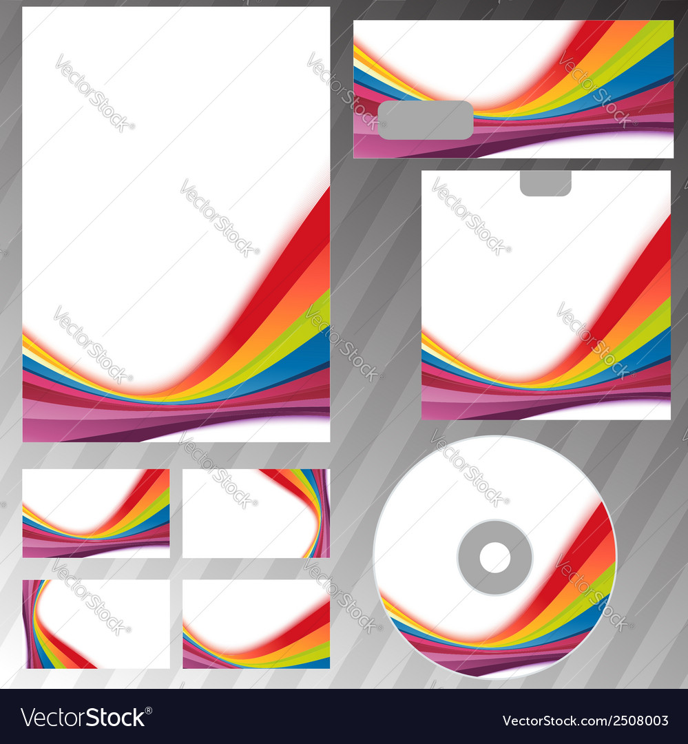 Corporate style rainbow swoosh line template vector | Price: 1 Credit (USD $1)