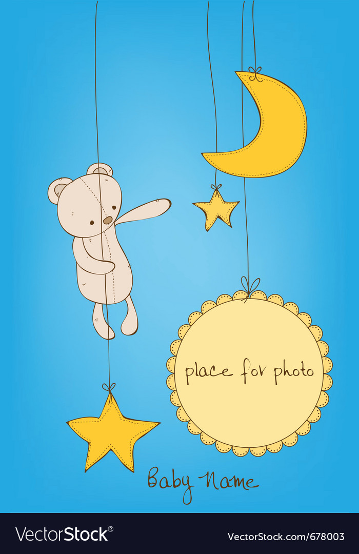 Cute baby arrival card vector | Price: 1 Credit (USD $1)