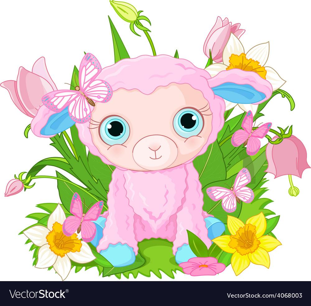 Cute cub sheep vector | Price: 1 Credit (USD $1)