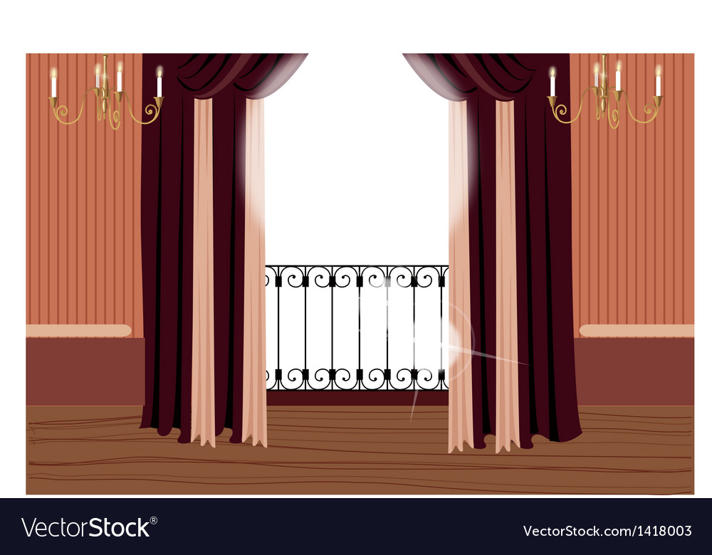 Elegant balcony interior vector | Price: 1 Credit (USD $1)