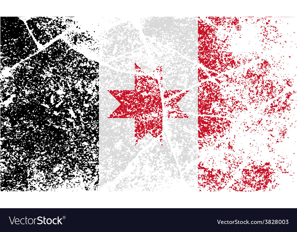 Flag of udmurtia with old texture vector | Price: 1 Credit (USD $1)