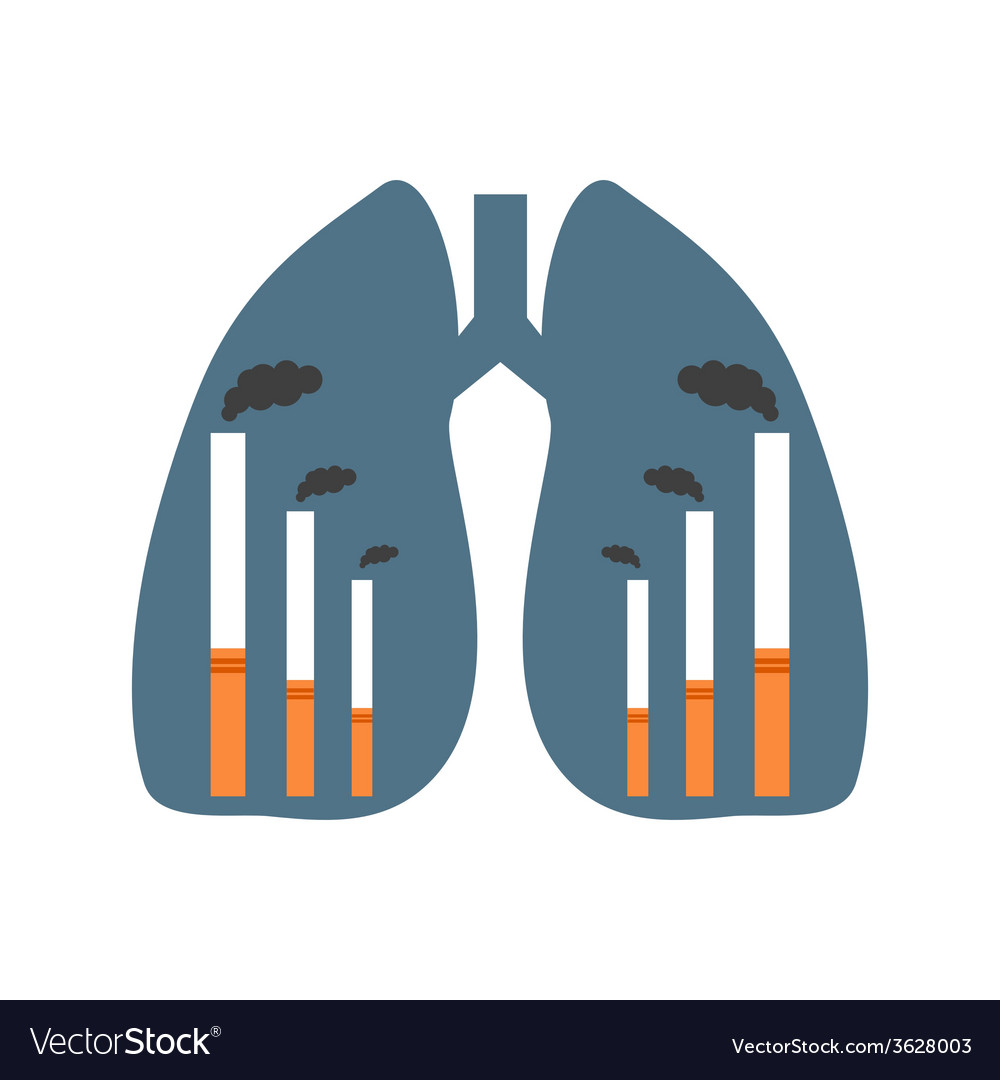 Lungs with smoking factories vector | Price: 1 Credit (USD $1)