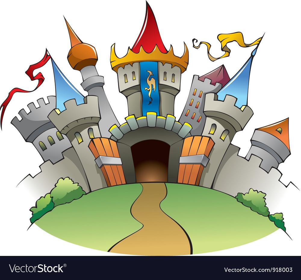 Medieval castle vector | Price: 3 Credit (USD $3)